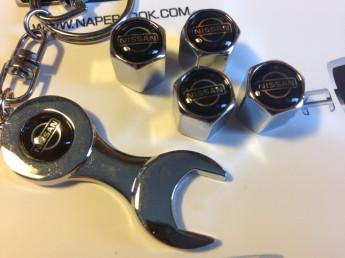 Колпачки на ниппель с логотипом NISSAN black