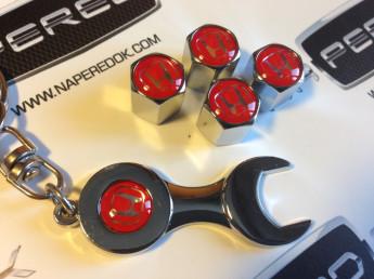 колпачки на ниппель с логотипом HONDA red