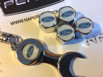 Колпачки на ниппель с логотипом FORD white