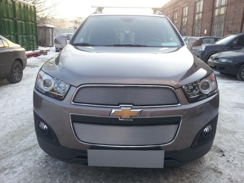 Защита радиатора Chevrolet Captiva 2013-2015 рестайлинг