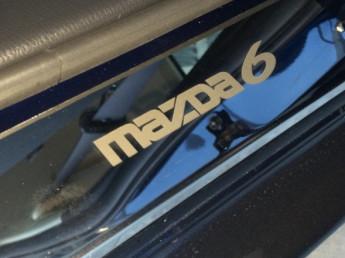 Накладки на пороги из стали MAZDA 6 (3 поколение) 2012-2015, 4шт.