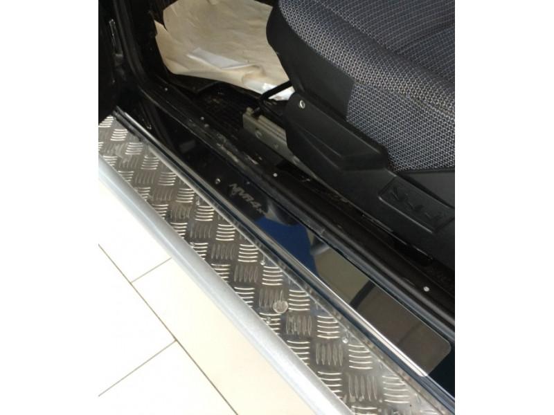 Накладки на пороги из стали LADA Niva 4x4 (3 двери)