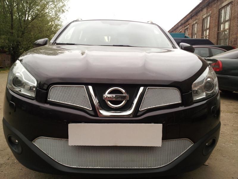 Защита радиатора Nissan Qashqai 2011- 2014 ПРЕМИУМ