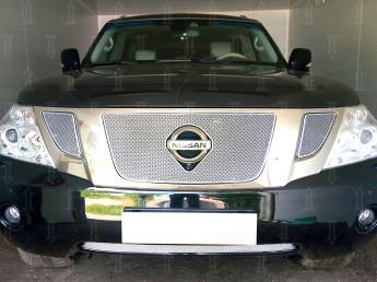 Защита радиатора ПРЕМИУМ NISSAN Patrol 6 Y62 2010-2013
